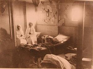 Комната сестер милосердия в трюме баржи-лазарета имени Ее высочества великой княгини Ксении Александровны