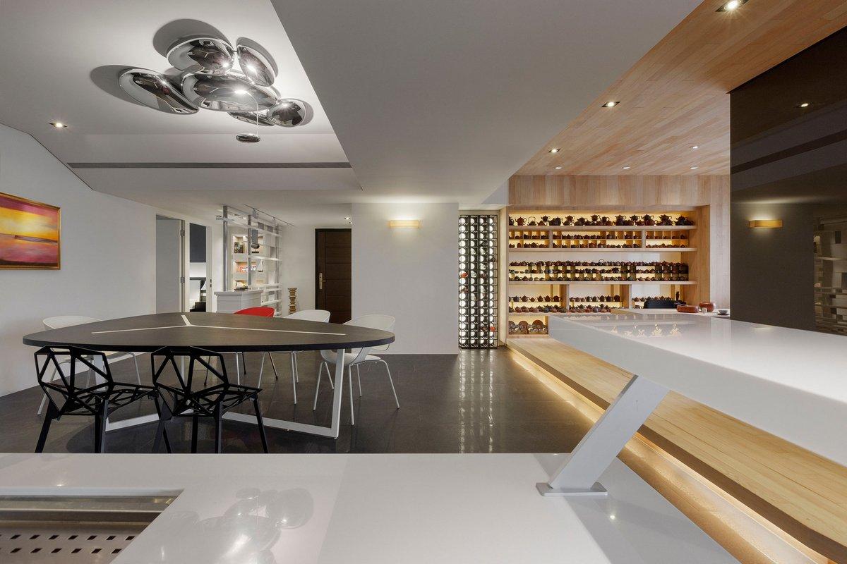 J.C. Architecture, Tea – Art, чайная комната в доме, стильный интерьер квартиры, интерьерные решения фото. квартира в Тайване, квартиры в Тайбэй