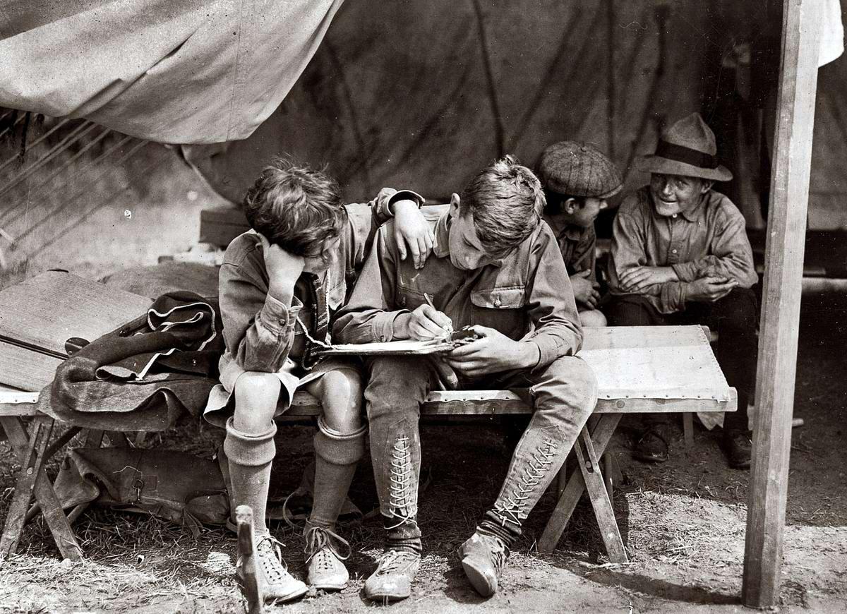 Американские бойскауты начала 20-го века на снимках фотографов (6)