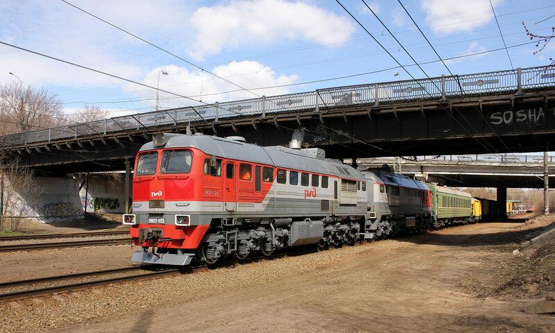 2М62У-0123 на перегоне Тушино-Подмосковная