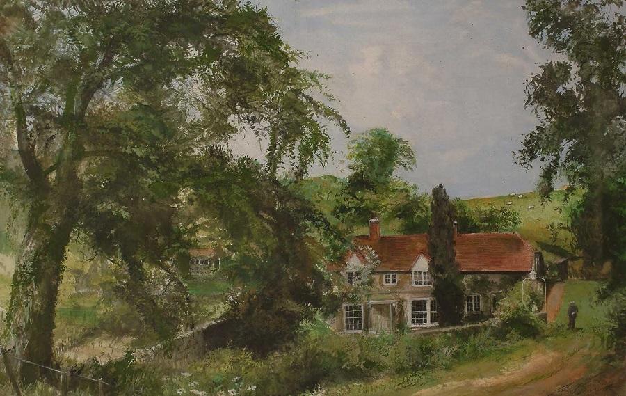 Lawn Cottage и студия, дом художника в Тисбери, Уилтшир