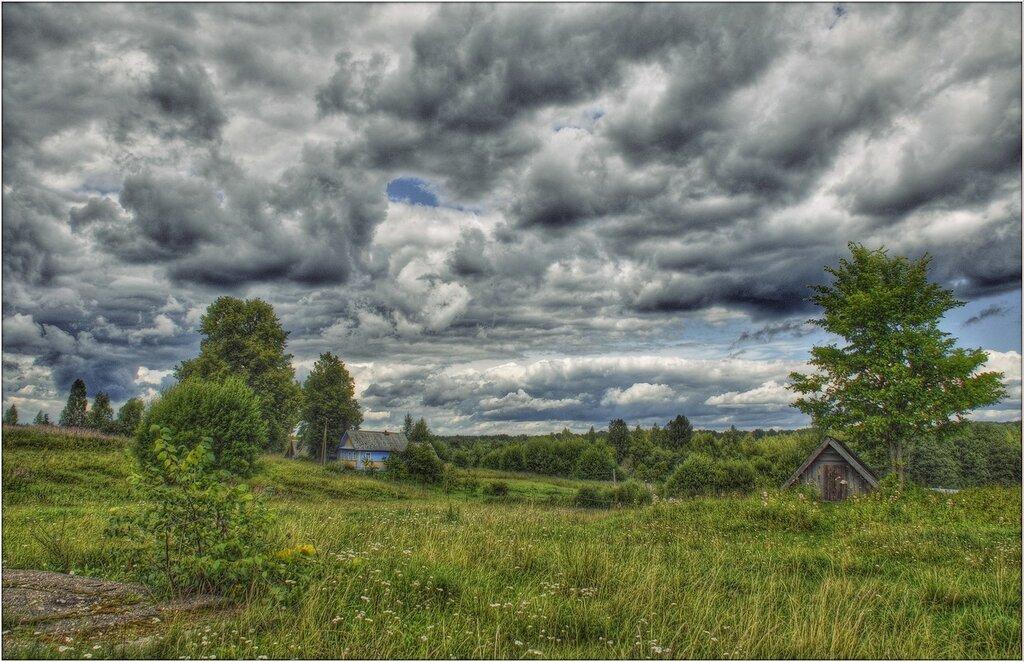 Хорошо в деревне летом, чистый воздух, свежий ветер...