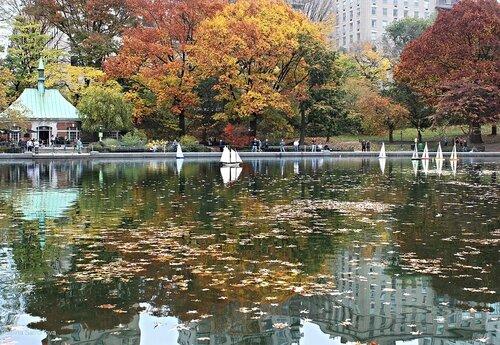 Центральный парк в Нью-Йорке, кораблики