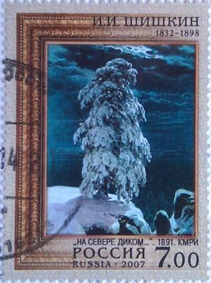 2007 худ шишкин дерево в снегу 7
