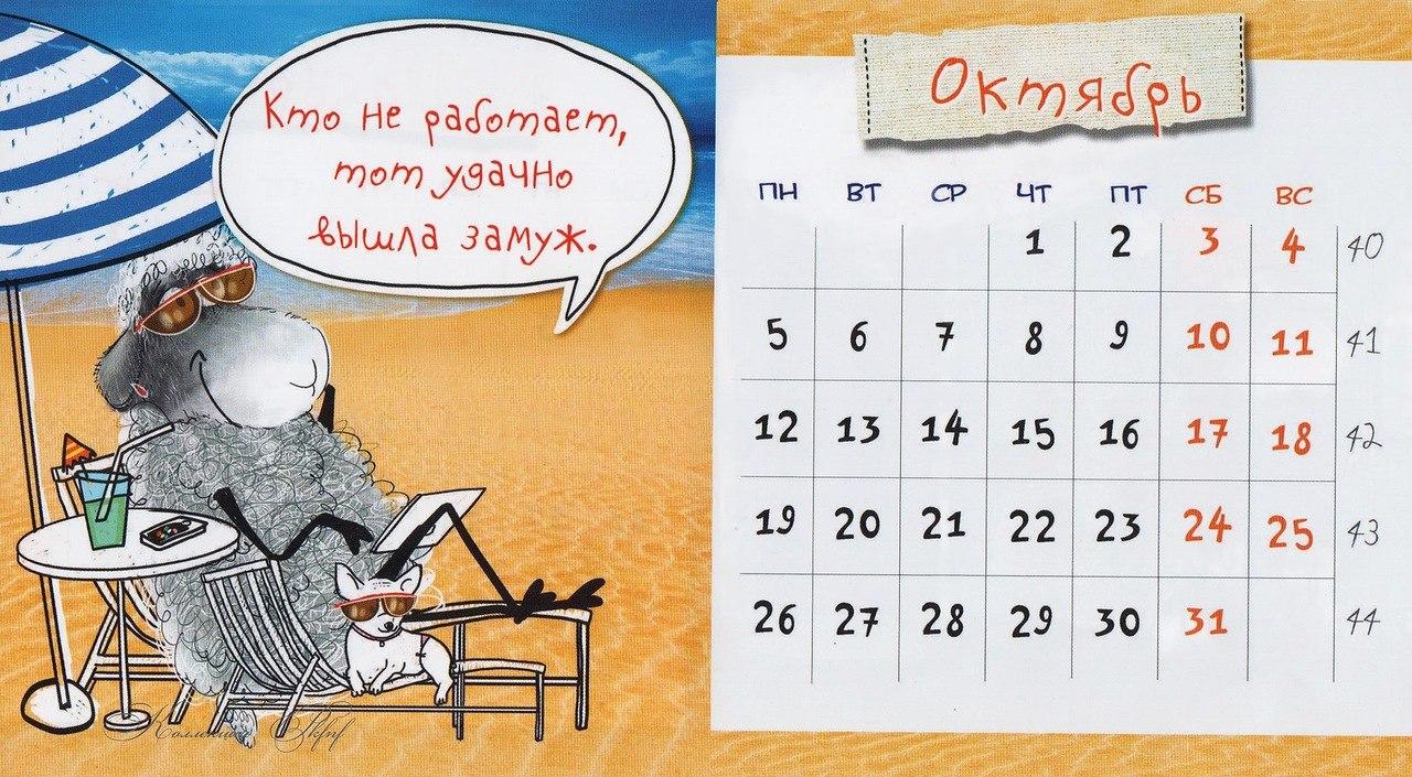 Прикольная картинку на календарь, анимация для