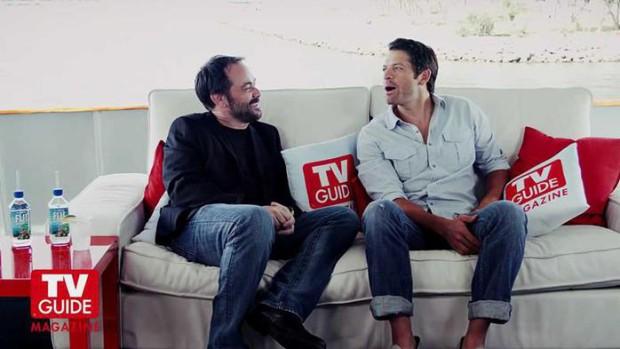 Фото и видео: интервью Миши Коллинза и Марка Шеппарда журналу TV Guide