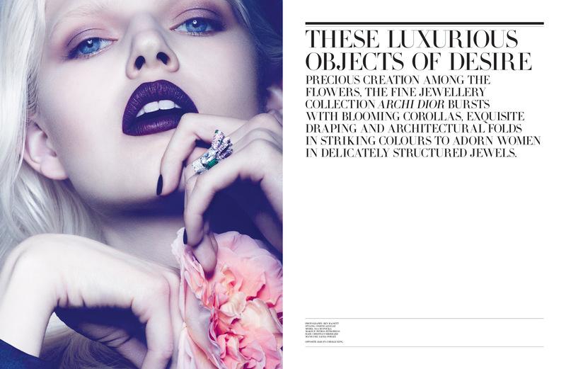 Ола Рудницка (Ola Rudnicka) в рекламной фотосессии для Dior