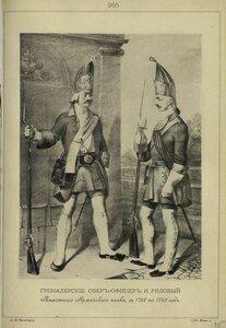 265. ГРЕНАДЕРСКИЕ ОБЕР-ОФИЦЕР и РЯДОВОЙ Пехотного Армейского полка, с 1732 по 1742 год