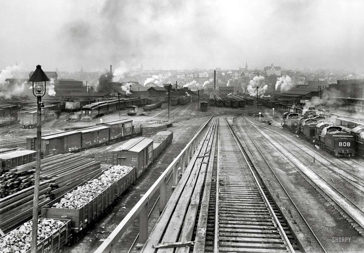 Железные дороги конца 19-го - начала 20-го века на снимках американских фотографов (29)