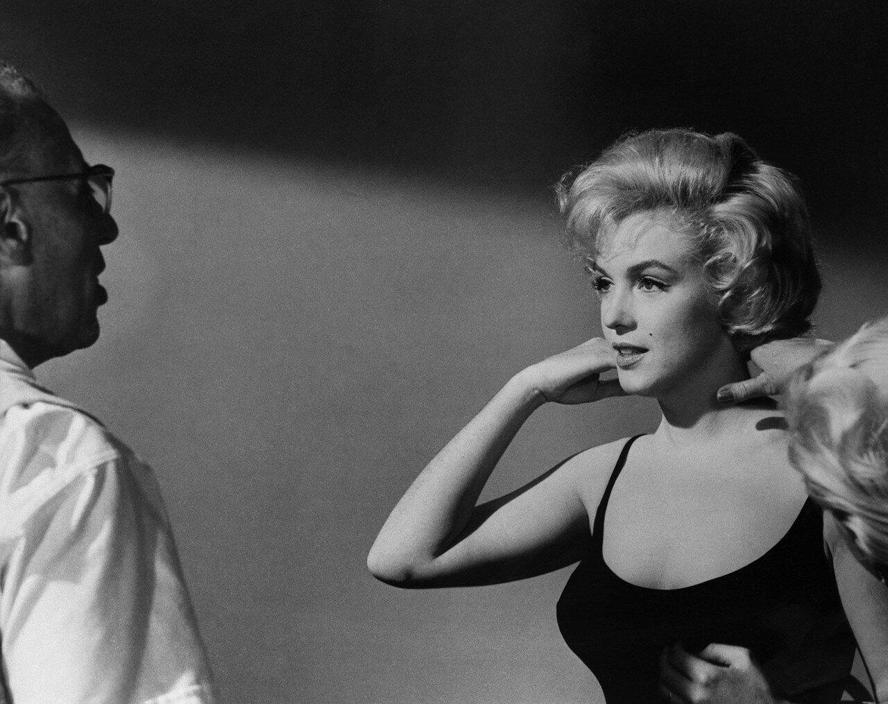 Marilyn Monroe and George Cukor