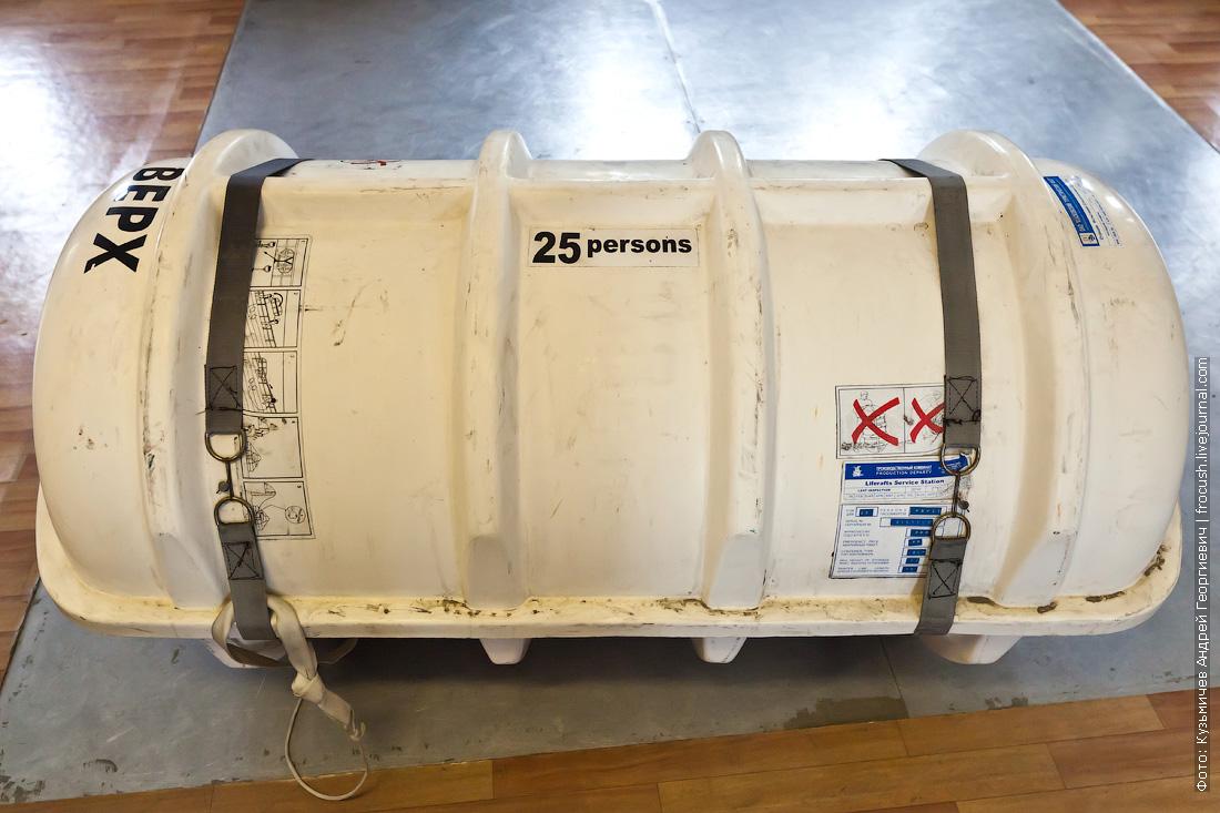 фотография спасательного плота в контейнере