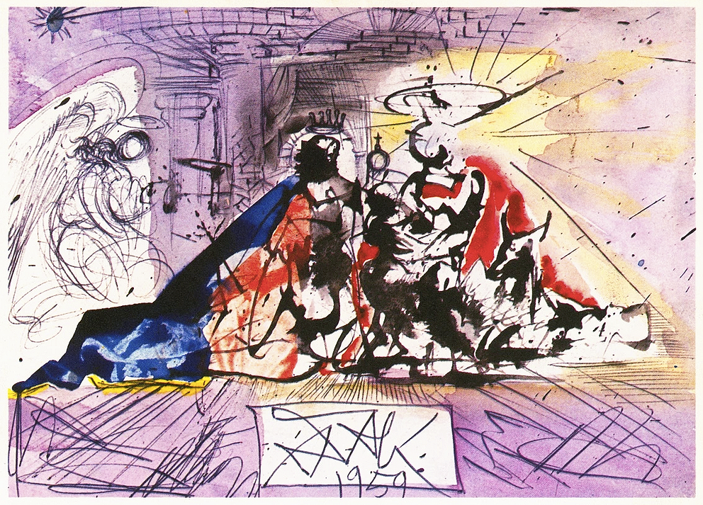 Dali's Controversial Christmas Card, 1960.png