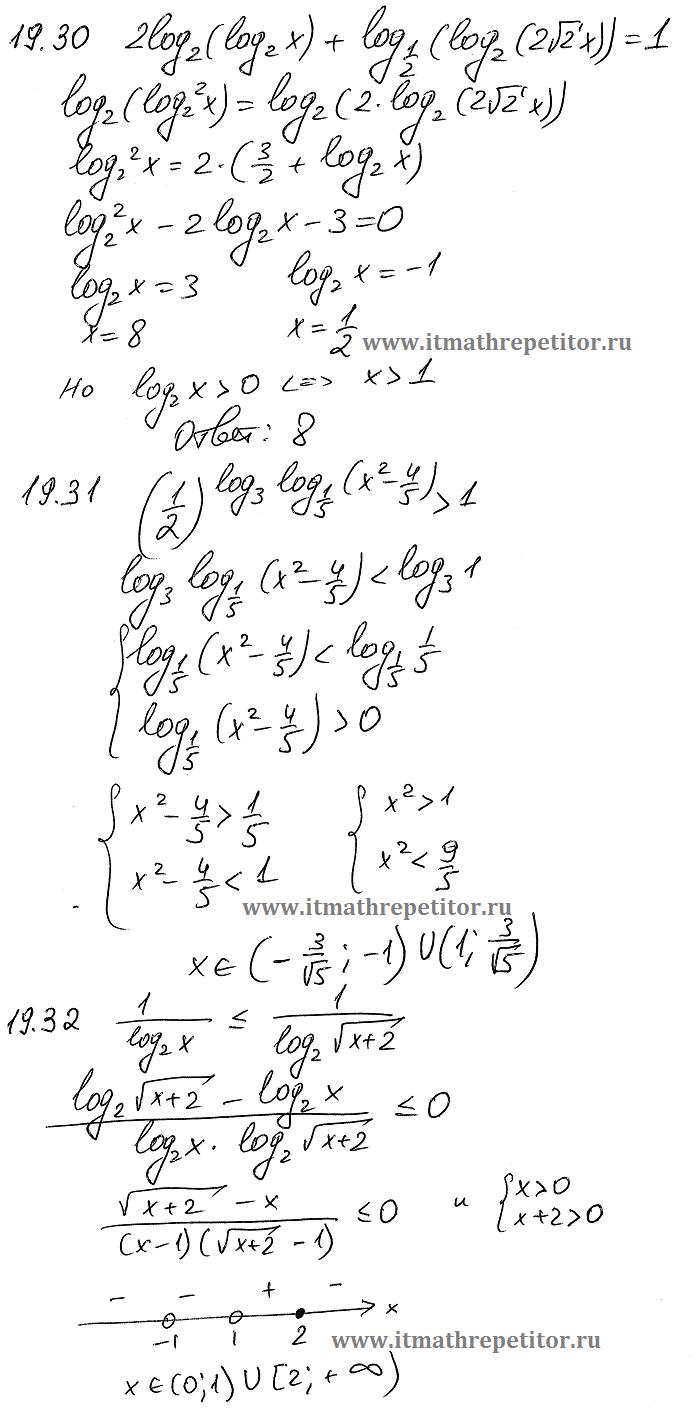 логарифмы решение