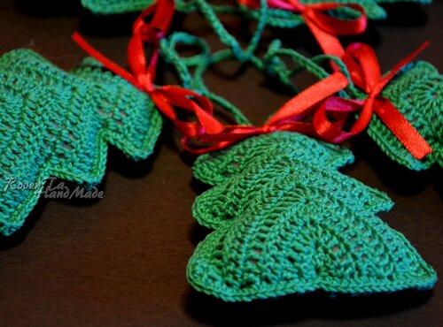roventa-handmade, вязаная елка, елка, елка крючком, игрушка елка