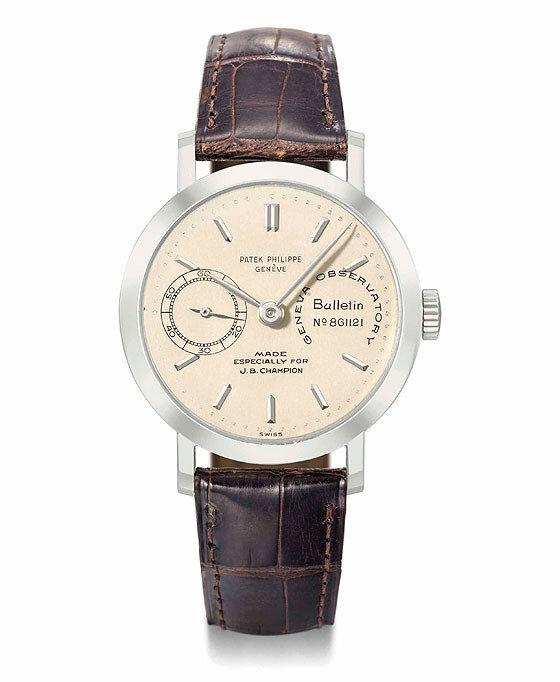 Самые дорогие часы в мире - JB Champion's platinum observatory chronometer