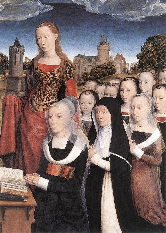 """Ханс Мемлинг. """"Триптих Вильяма Мореля"""" 1484 правая панель"""