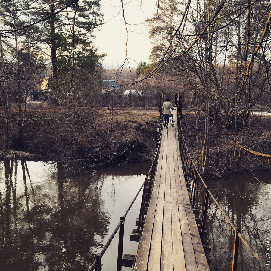висячий мост на кремешках