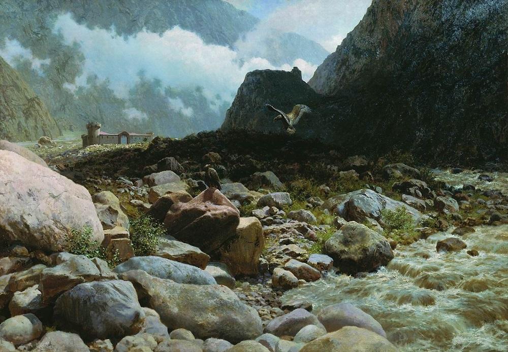 Горная река 1894 холст масло 122 х 174 см Музей изобразительных искусств Республики Карелия, Петрозаводск.jpg