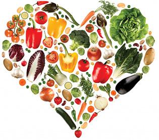 2 июня День здорового питания. Сердечко из овощей