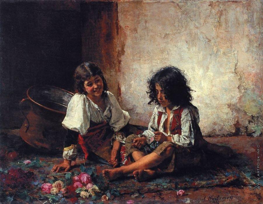 Итальянские дети. 1877.jpg