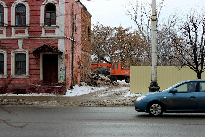 Снос здания на улице Советской. 17.01.2015 г.