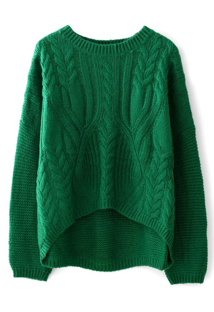 ярко зеленый свитер