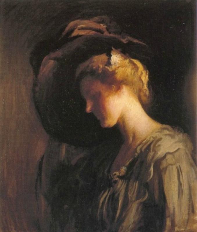 Edmund Tarbell (American painter, 1862-1938) Adjusting the Hat 1900.jpg