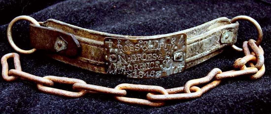 Ошейник североамериканского раба - 1846 год (1)