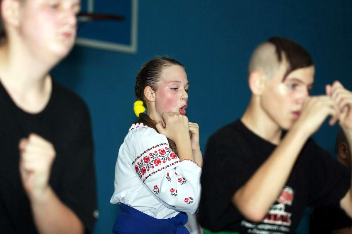 Квалификационный групповой экзамен в школе боевого гопака города Нетешин (Хмельницкая область) (24)