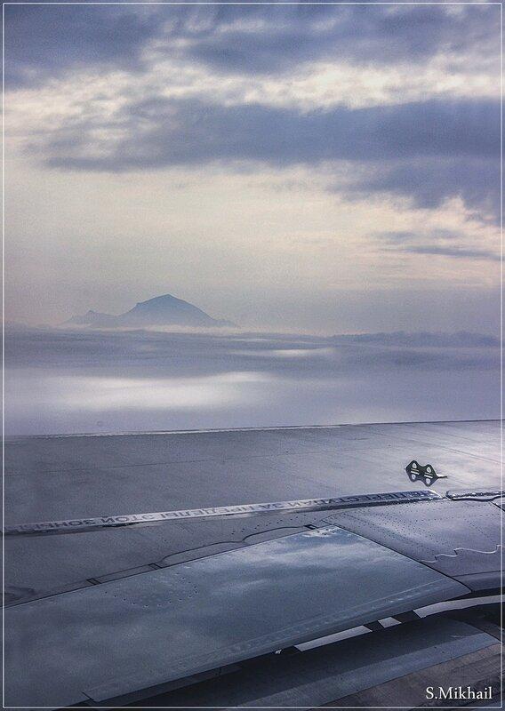 Между облаками гора Бештау