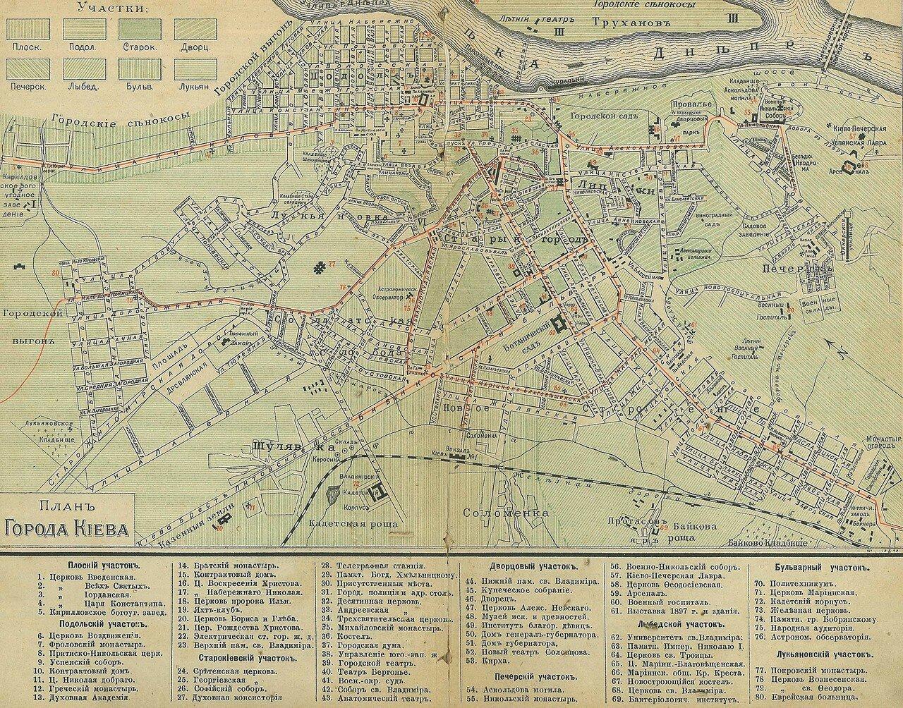 1900. План Киева