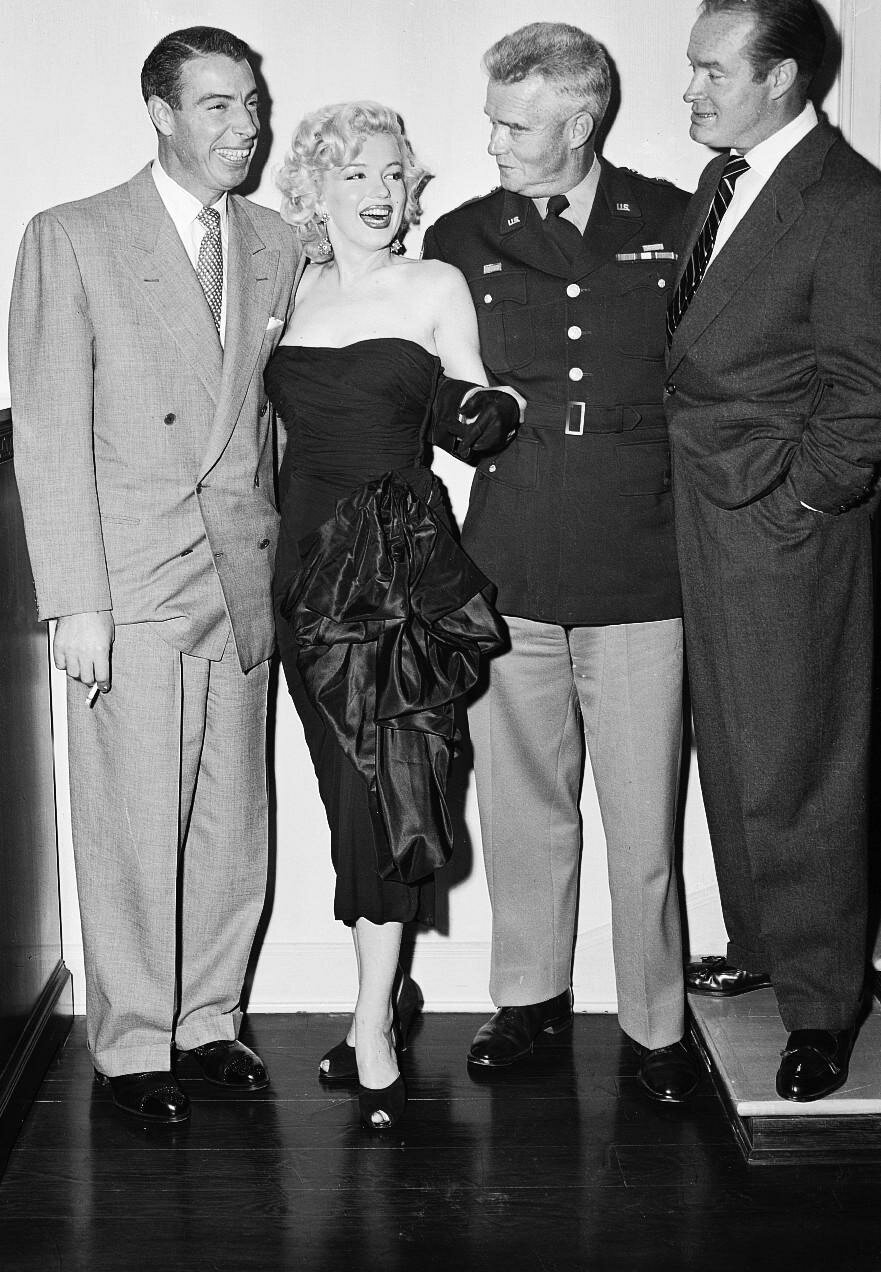 Marilyn Monroe with Joe DiMaggio and Others