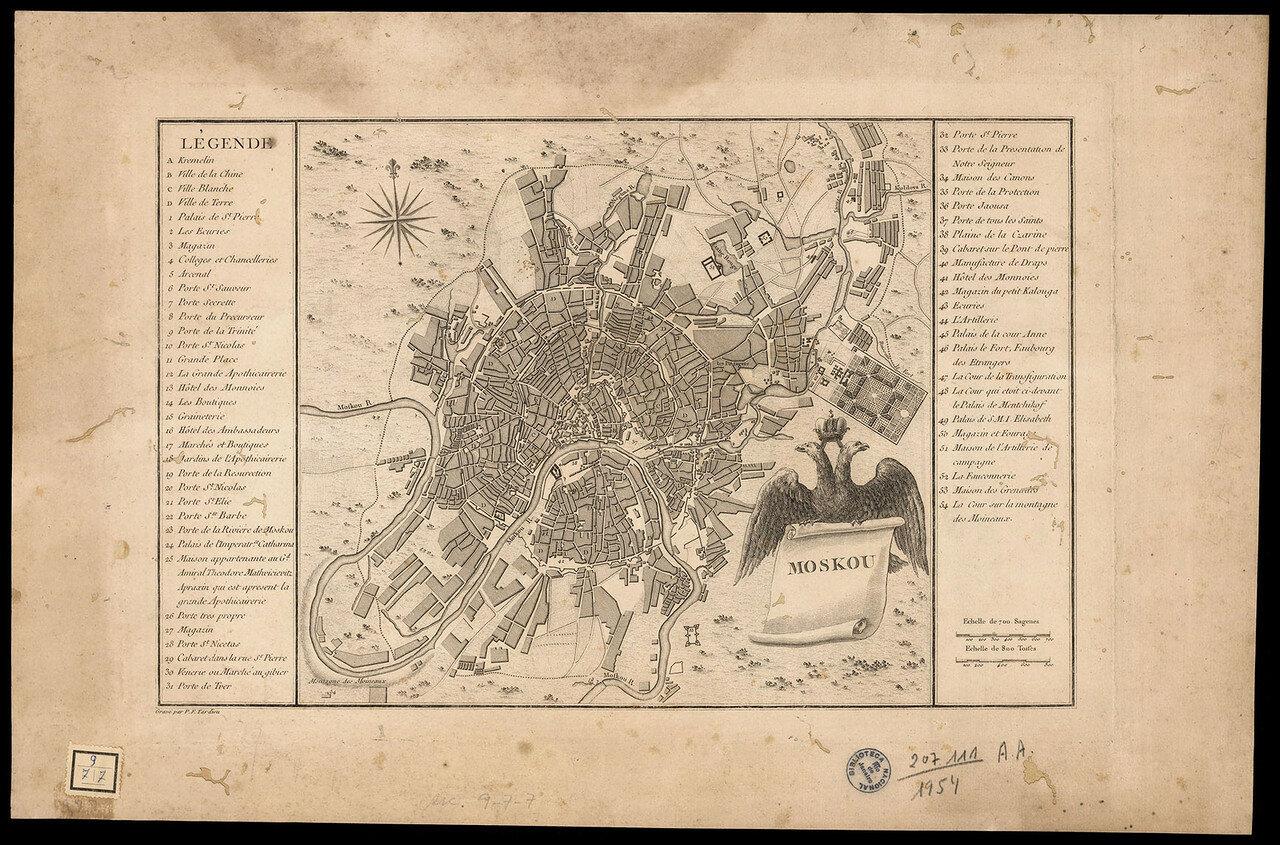 1785. Карта Москвы