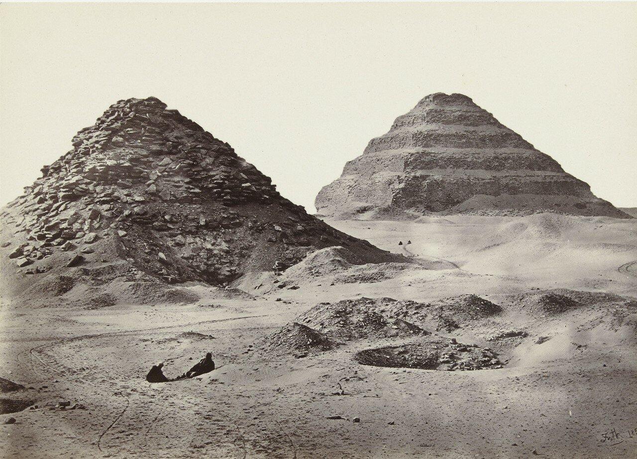 Саккара. Пирамиды. 1856
