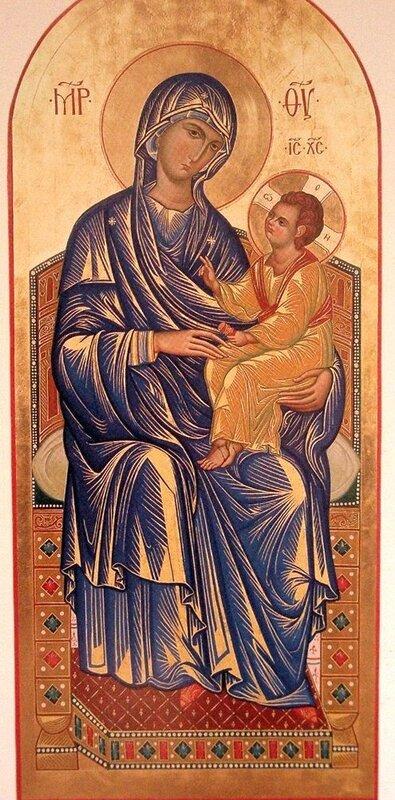 Богоматерь с Младенцем на троне.