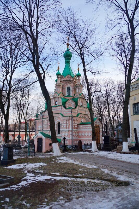 Церковь Иоанна Лествичника (усыпальница Терещенко) Донского монастыря, Москва