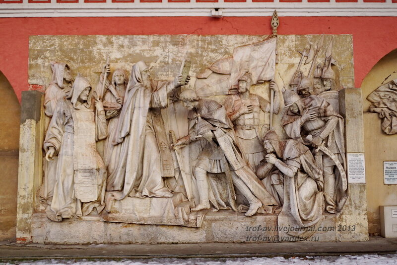 Горельефы с оригинального Храма Христа Спасителя, 1847г., Донской монастырь, Москва