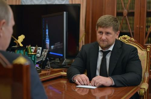 Кадыров у Путина в Кремле