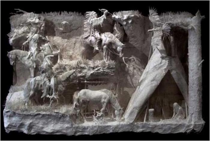 Удивительные скульптуры из бумажной массы 0 115b6f d559774d orig
