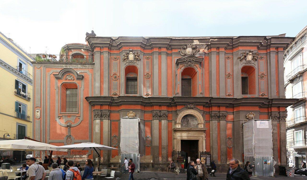 Naples. The Church of Sant-Angelo-a-Nilo (Chiesa di Sant'angelo a Nilo)