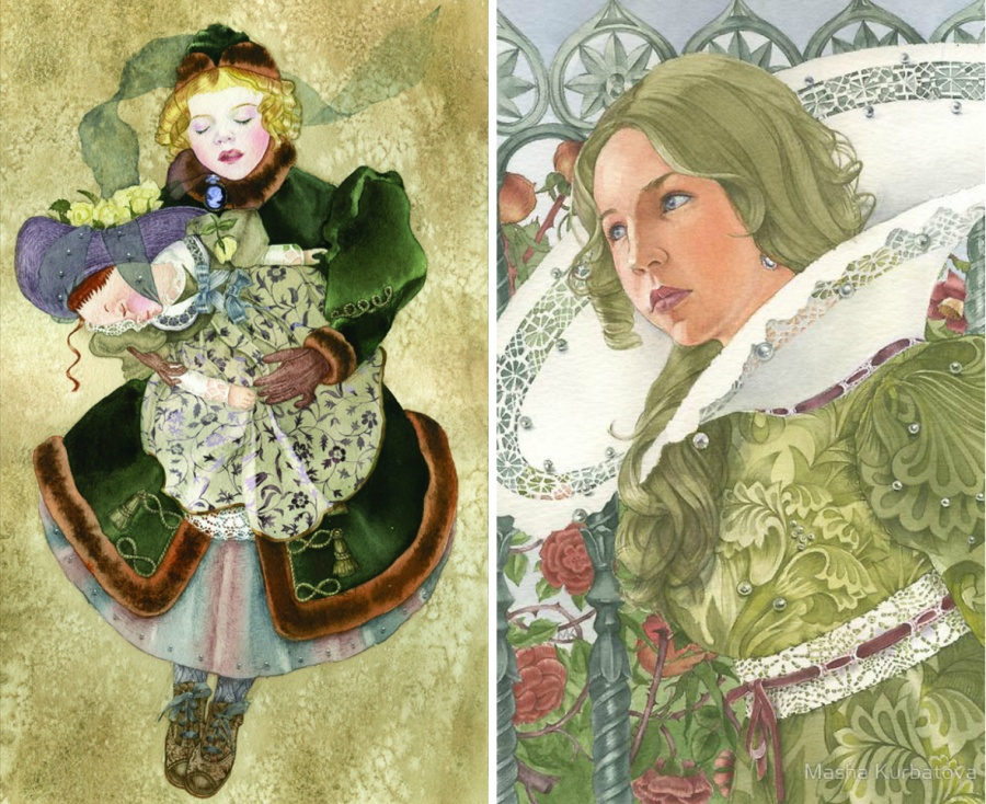 Волшебный мир грёз ввоздушных акварелях российской художницы