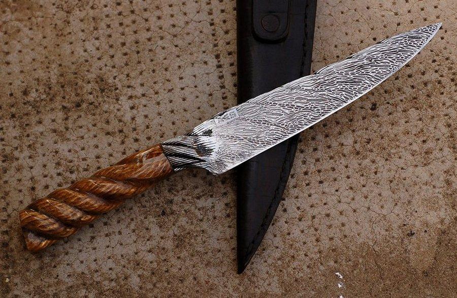 Как сделать нож своими руками видео из дерева