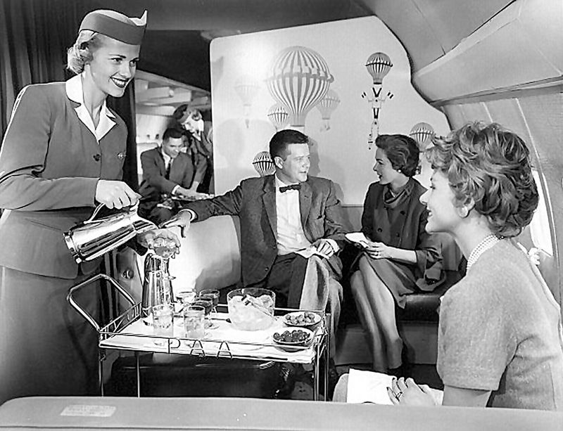 Как раньше летали первым классом