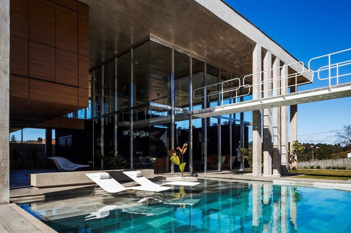 FGMF Arquitetos, дом для молодой пары, открытая планировка частного дома, дома в Бразилии, особняки в Бразилии, дома в Ботукату, проект Botucatu House