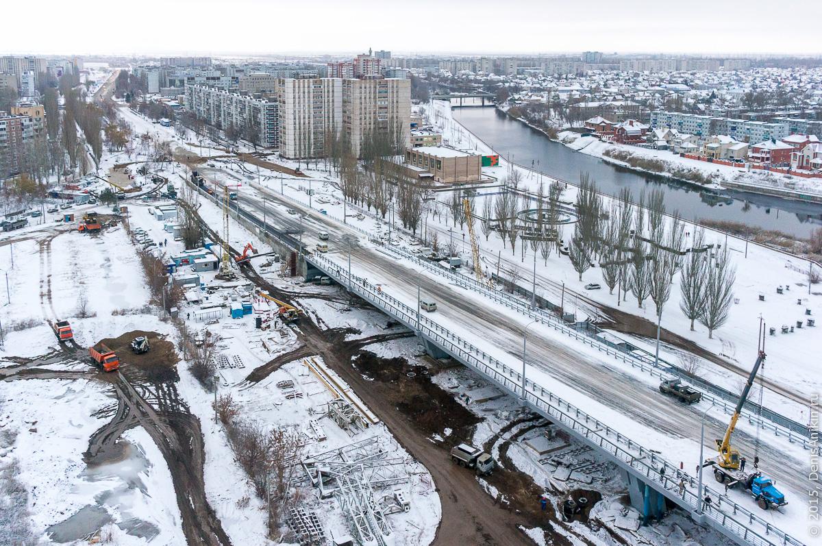 Мостовой переход через судоходный канал в Балаково 17