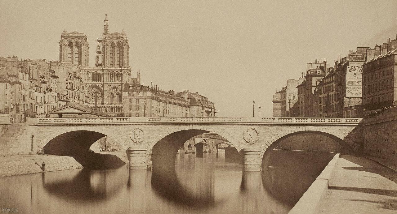 1859. Вид нового моста Сен-Мишель