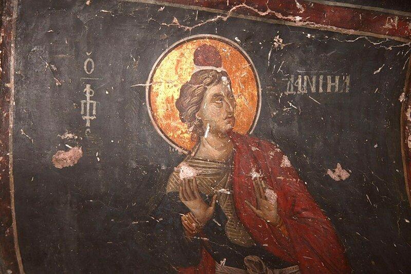Святой Пророк Даниил. Фреска церкви Св. Николая в Салониках. 1310 - 1315 годы.