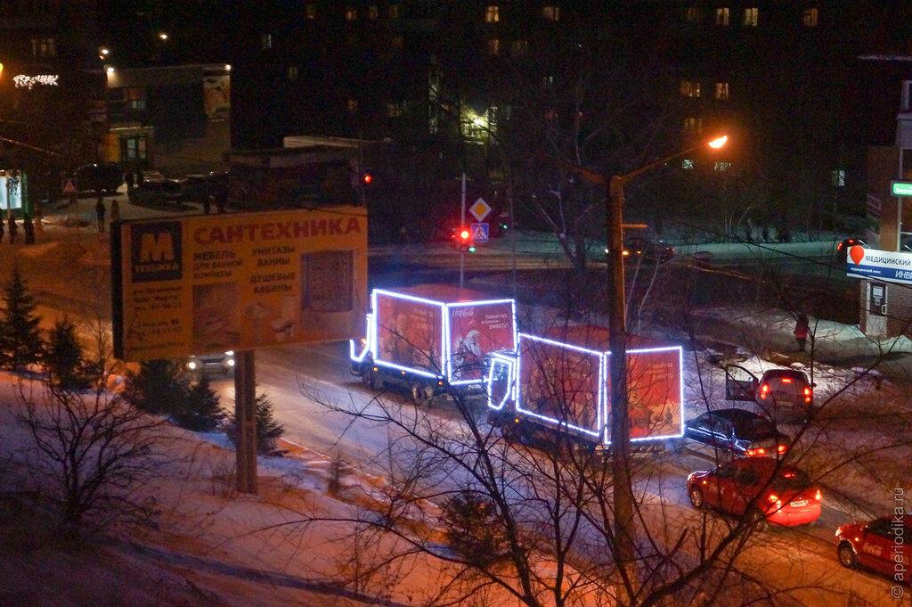 Новогодние грузовички Coca-Cola в Златоусте