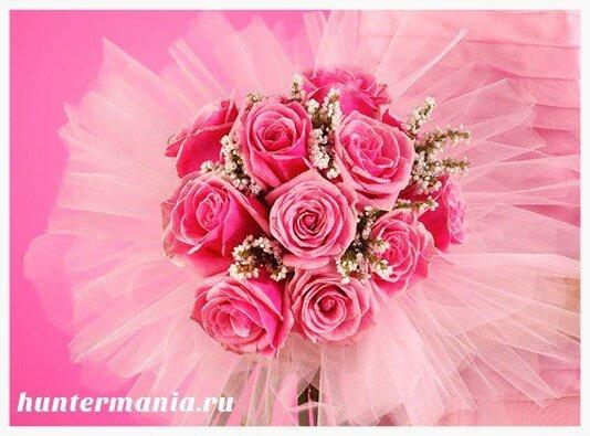 Какие бывают свадебные букеты - букет балерина