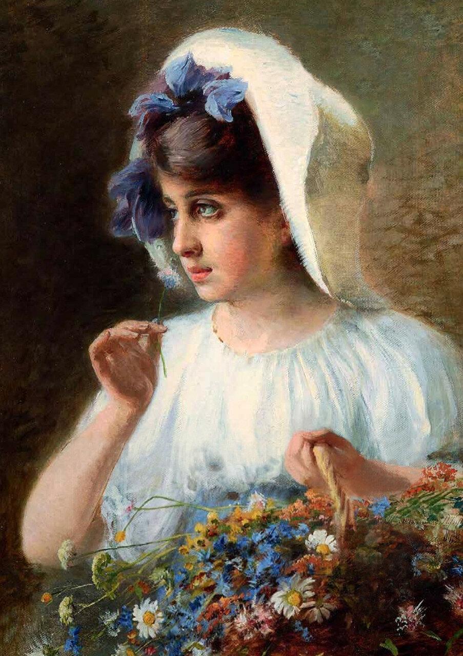 Пасс Израэль Абрамович- Девушка с корзиной цветов-2.jpg